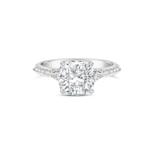 R1379 cushion cut engagement ring