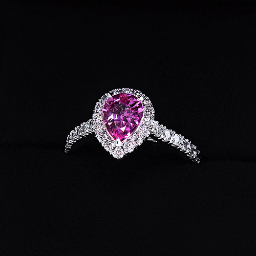 Pink sapphire engagement ring guide