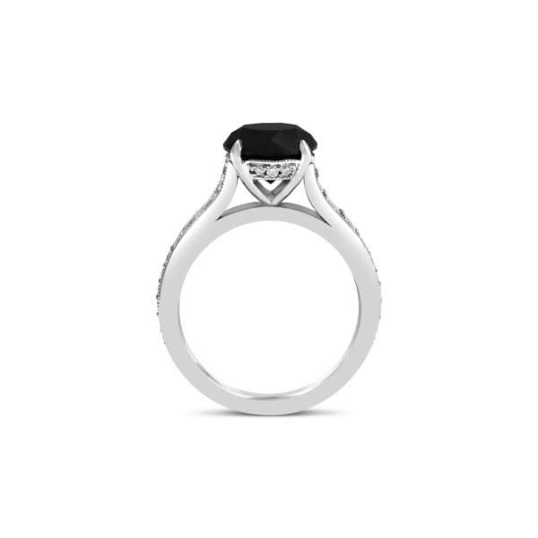 Black diamond engagement ring 3