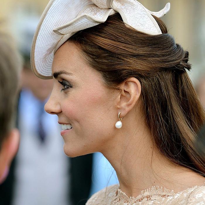 Duchess of Cambridge in Pearl Jewellery