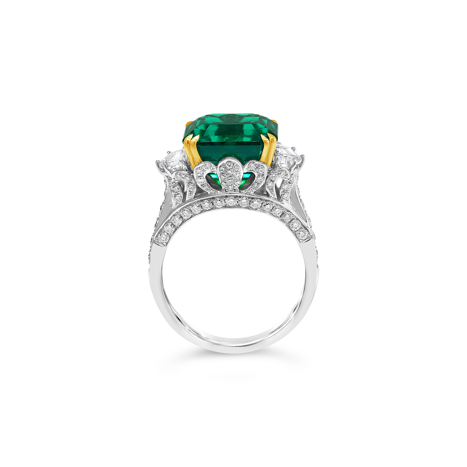 Colombian Emerald Three Stone Ring - Fairfax & Roberts - photo#15