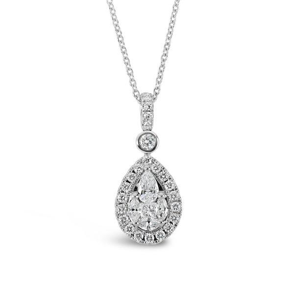 Fancy Diamond Cut Necklace