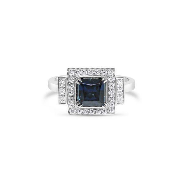Princess Cut Australian Sapphire Ring