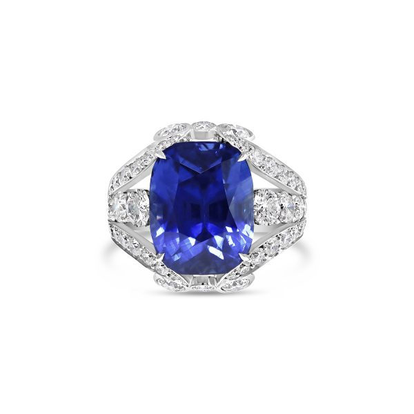 Ceylonese Vivid Blue Sapphire Dress Ring