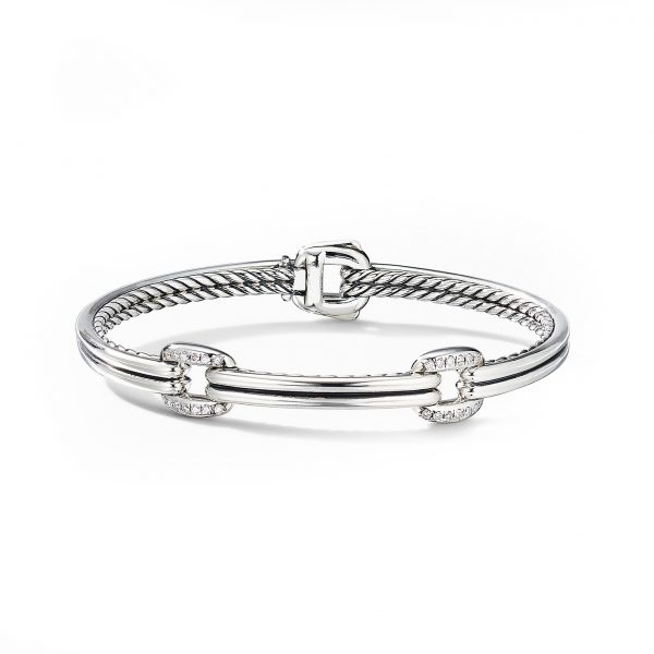 David Yurman Thoroughbred Bracelet Diamonds