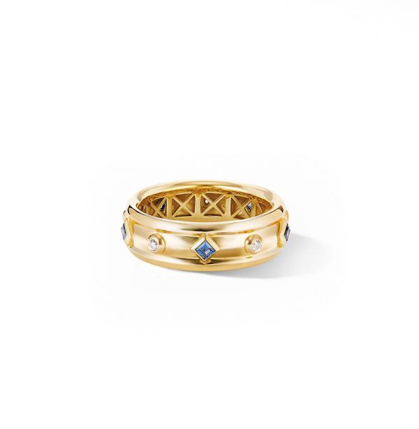 David Yurman Australia_R14709D88ABSDI Renaissance Ring in 18K Yellow Gold with Blue Sapphires