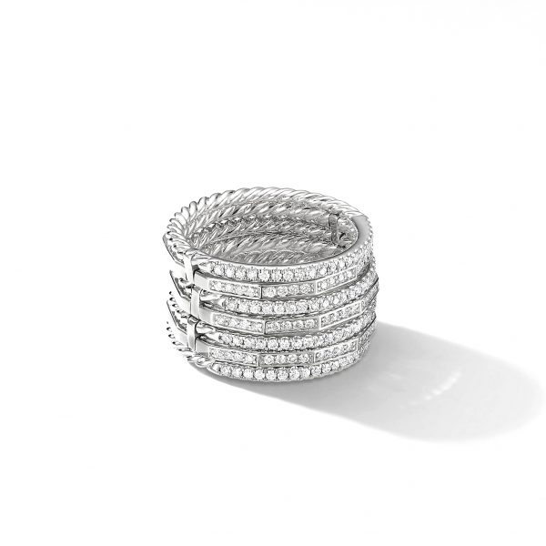 David Yurman Australia_R14818D8WADI Stax Full Pavé Ring in 18K White Gold