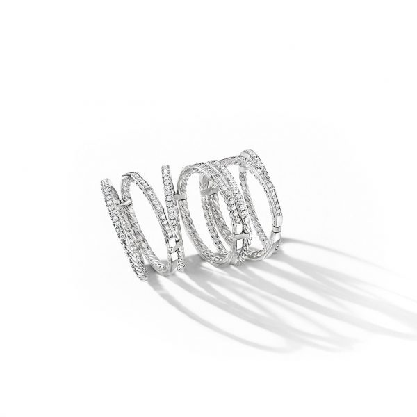 David Yurman Australia_R14818D8WADI_ALT2 Stax Full Pavé Ring in 18K White Gold
