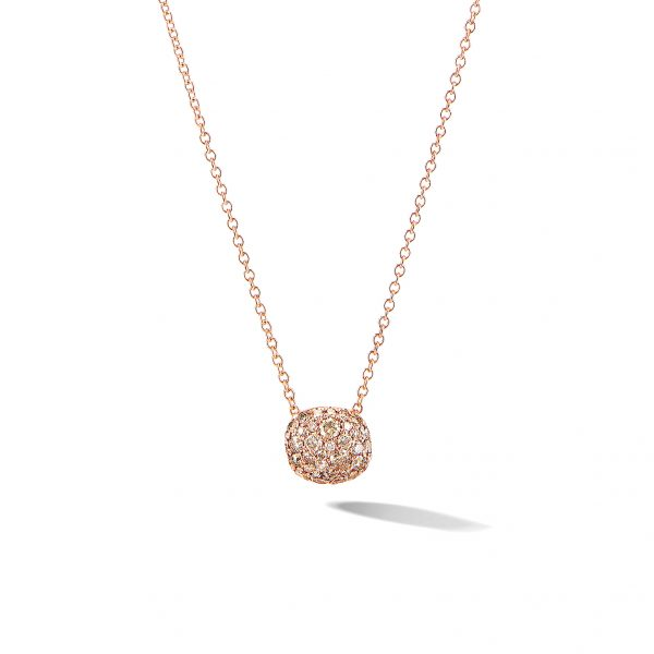 David Yurman Cushion Stud Pendant Necklace