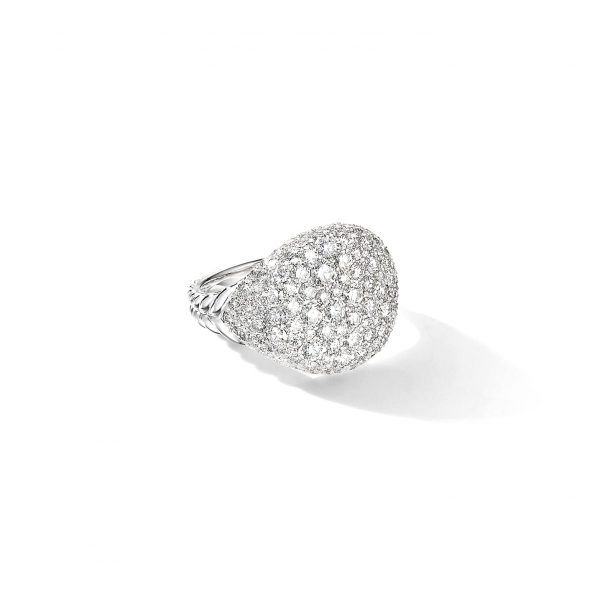David Yurman Chevron Pinky Diamond Ring
