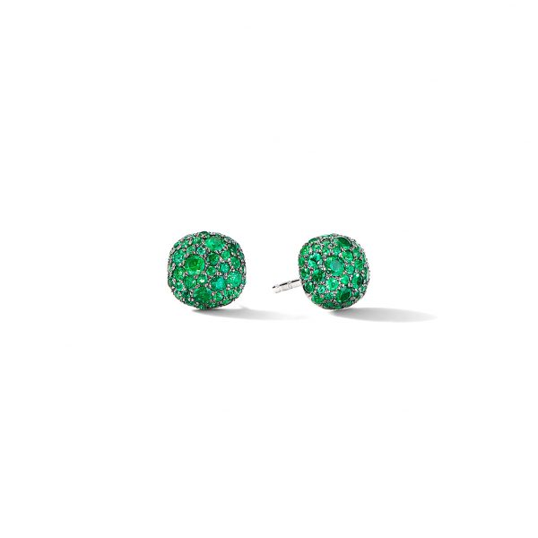 David Yurman Emerald Cushion Stud Earrings