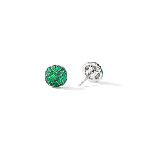 David Yurman Emerald Cushion Stud Earrings