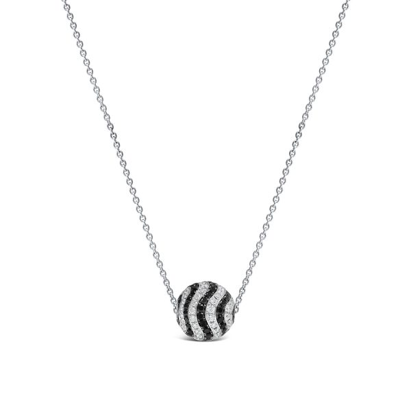 Black and White Diamond Slider Pendant