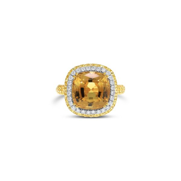 Citrine and Yellow Sapphire Dress Ring