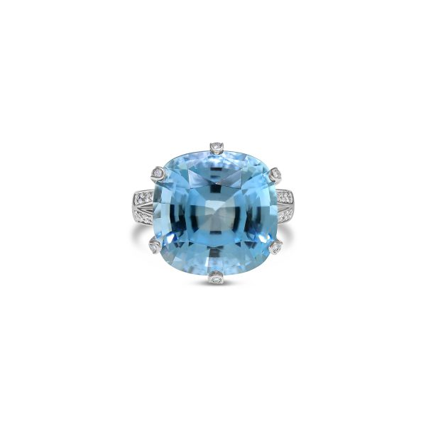 Topaz and Diamond Dress Ring