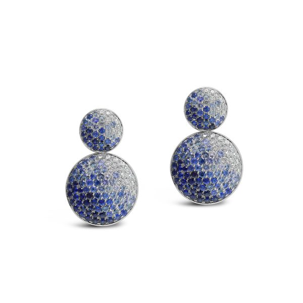 Double Disc Sapphire Earrings