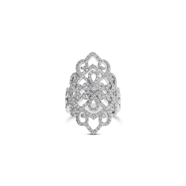 Diamond Filigree Dress Ring
