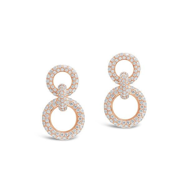 Double Linked Diamond Earrings