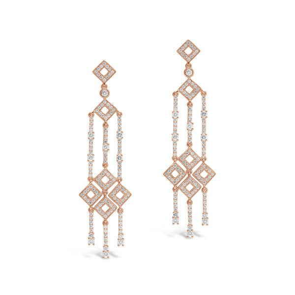 Triple Drop Diamond Earrings
