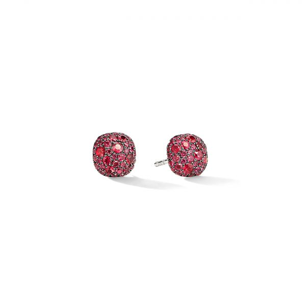 David Yurman Ruby Cushion Stud Earrings