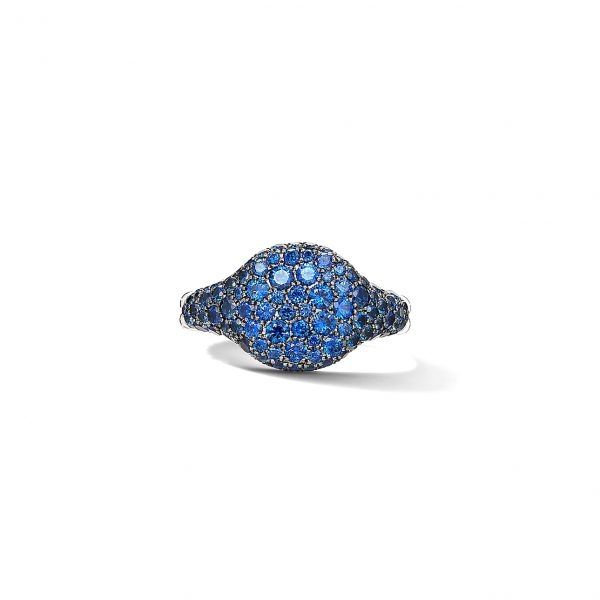 David Yurman Sapphire Mini Chevron Pinky Ring
