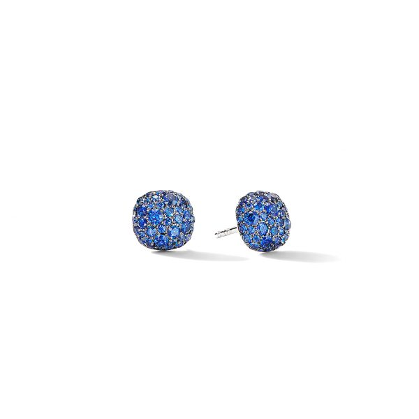 David Yurman Sapphire Cushion Stud Earrings