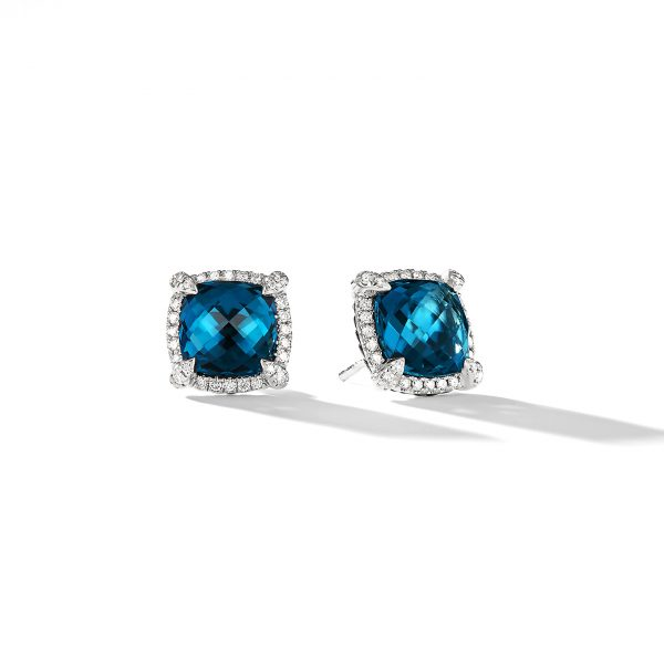 David Yurman Chatelaine Topaz Stud Earrings