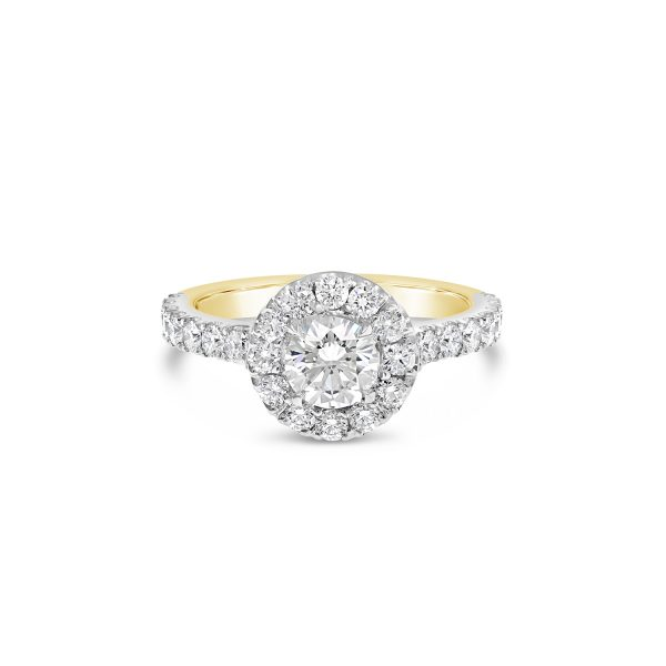Round Brilliant Cut Halo Engagement