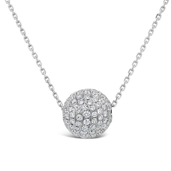 Pave Set Diamond Ball Pendant