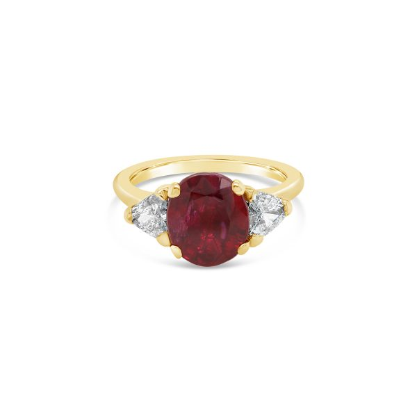 Afghanistan Ruby and Diamond Ring