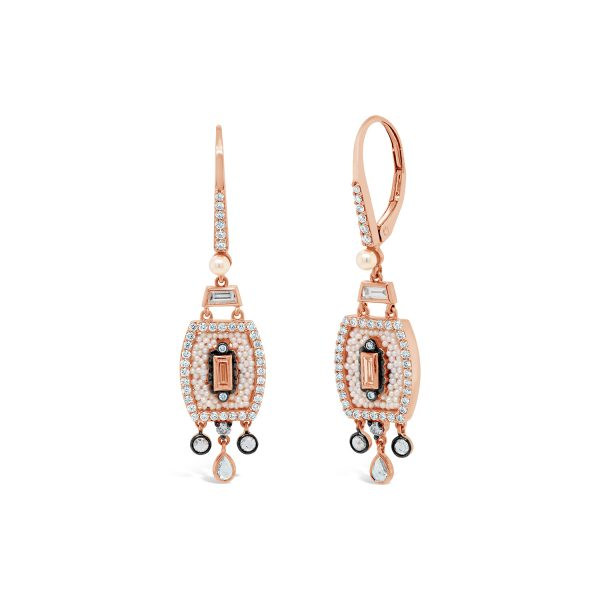 Japanese Keshi Seed Pearl Drop Earrings