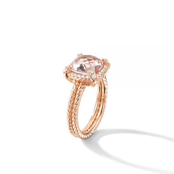 David Yurman Chatelaine Pave Bezel Ring