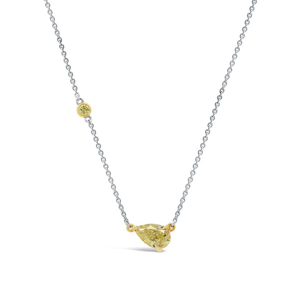 Pear Shaped Yellow Diamond Pendant
