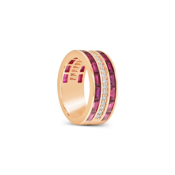 Ruby and Diamond Channel Set Ring