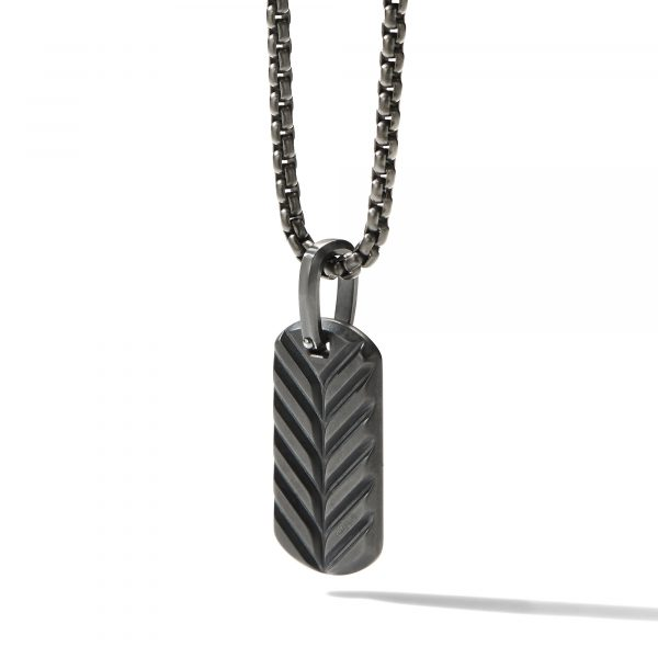 David Yurman Streamline Tag Black Titanium