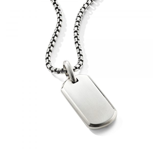 David Yurman Streamline Sterling Silver Tag