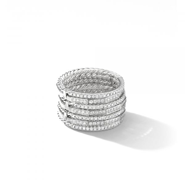 David Yurman Stax Full Pavé Ring