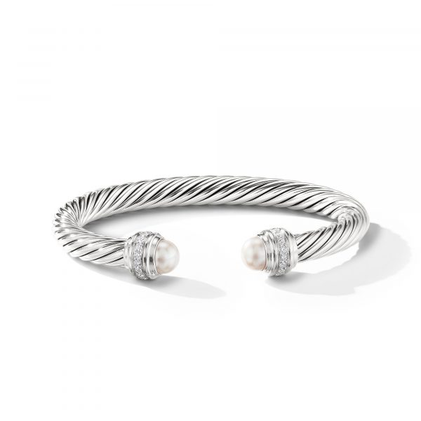 David Yurman Cable Pearl Bracelet