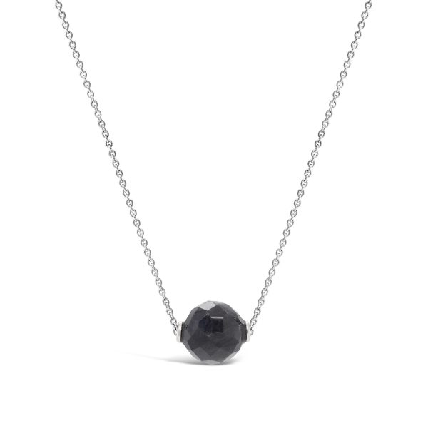 Grey Sapphire Bead Necklace