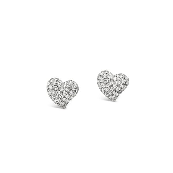 Pavé Diamond Heart Earrings