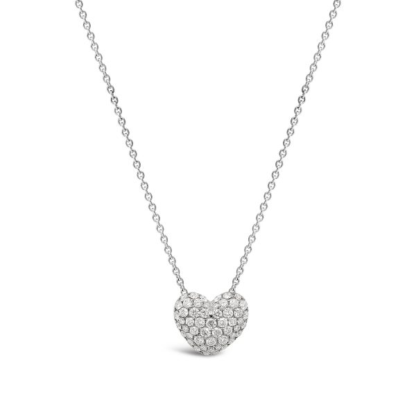Pavé Diamond Heart Slider Pendant
