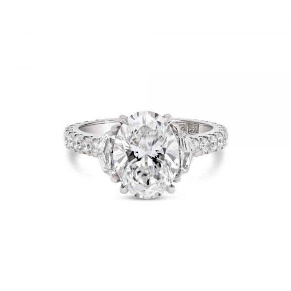Oval cut diamond engagement ring sydney