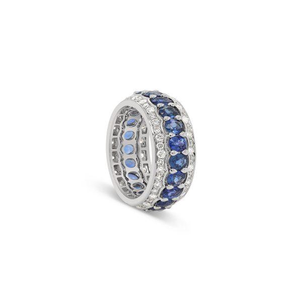 Diamond and Sapphire Eternity Ring