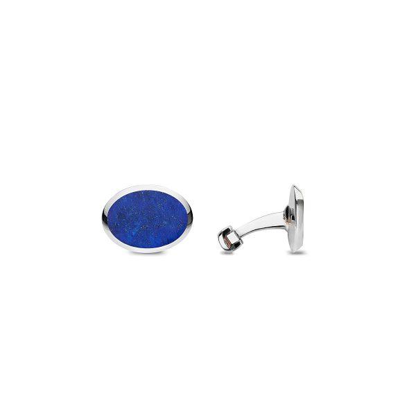 Barbarulo Napoli Oval Lapis Lazuli Cufflinks