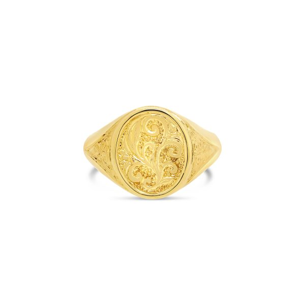 Classic Oval Gold Signet Ring