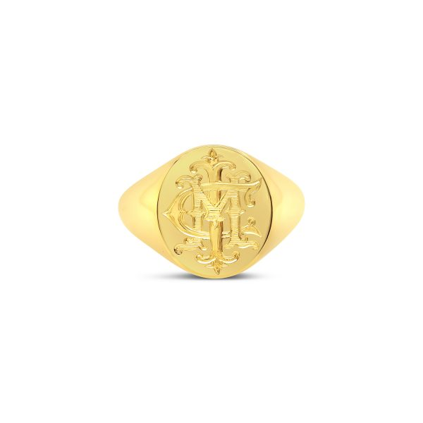 Large Oval Gold Signet Ring