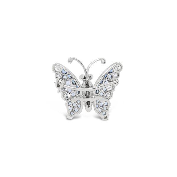 Papillon Diamond & Blue Sapphire Mini Brooch